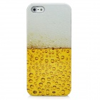 Beer Bubbles Style Protective PC Back Case for Iphone 5 - White + Yellow