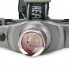 NEW-861 OSRAM LED 3W 170lm 3-Mode White Zooming Headlamp - Silver (1 x 16340)