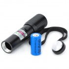 SD-220 5mW 532nm Green Laser Pointer - Black (1 x CR123A / 16340)