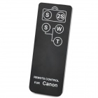 JYC PU Wireless Remote Controller for Canon 7D / Pro90 IS + More (1 x CR2025) - Black