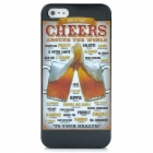 Beer Cheers Style Protective PC Back Case for Iphone 5 - Golden + Black