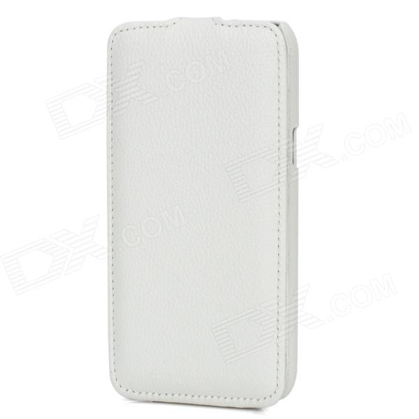Protective Top Flip Open PU Leather Case for Samsung Galaxy Note 2 N7100 - White protective pu leather top flip open case for samsung i9220 black