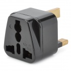 Universal Travel AC Plug Power Adapter - Black (UK Plug)