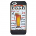 Beer Style Protective PC Back Case for Iphone 5 - Golden + Black + White