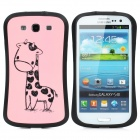 iFace Protective Silicone Case for Samsung i9300 Galaxy S3 - Light Pink + Black