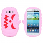 Halloween Devil Pumpkin Style Protective Silicone Case for Samsung Galaxy S3 i9300 - Pink