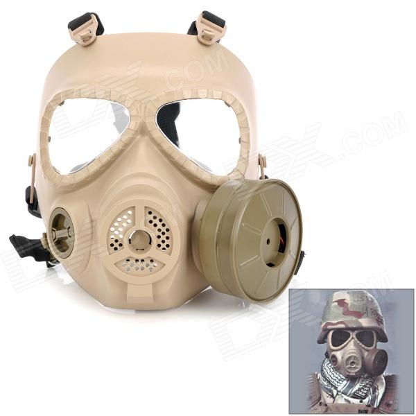 M04 Wargame Airsoft Dummy Cosplay Protective Full Face Resin Mask - Khaki jaisati gas mask tactical skull resin full face fog gas masks for cs wargame airsoft paintball face protective halloween mask