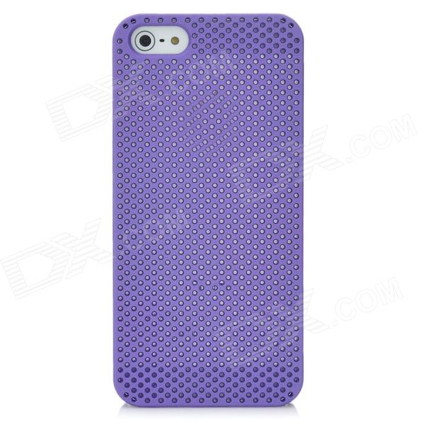 Mesh Style Protective Back Case for Iphone 5 - Purple