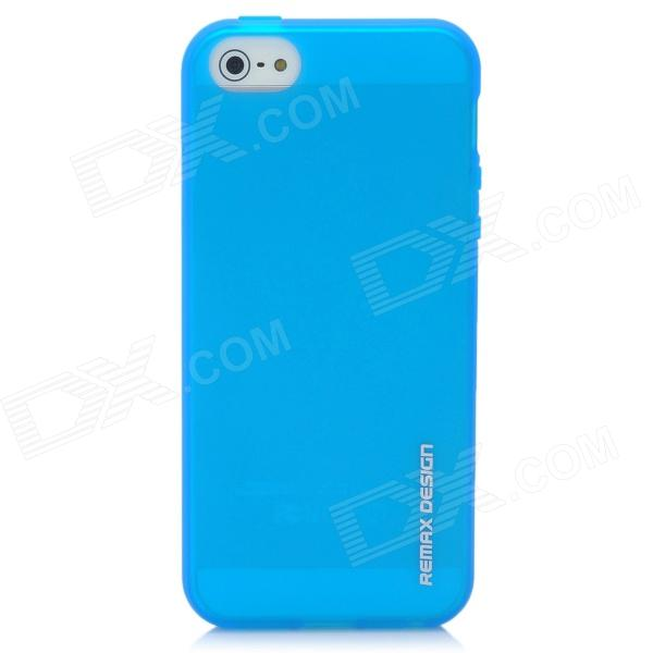REMAX Protective Silicone Back Case for Iphone 5 - Crystal Blue protective matte silicone case for iphone 5 5s dark blue white