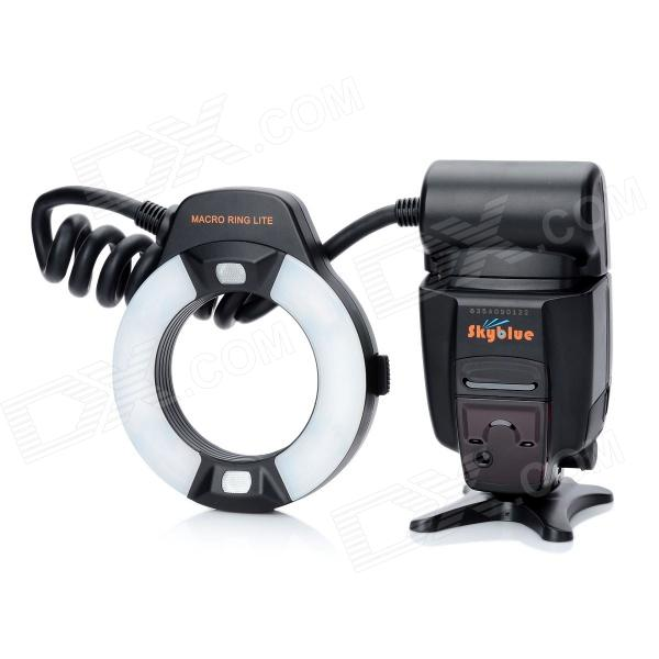 SkyBlue MK-14EXT 2.0'' LCD 9W 5500K 5500lm LED Profession TTL Macro Ring Flash Light for Nikon DSLR skyblue mk 14ext 2 0 lcd 9w 5500k 5500lm led profession ttl macro ring flash light for nikon dslr