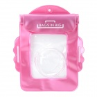 Universal Waterproof Protective PVC Bag for Canon IXUS series Cameras - Pink