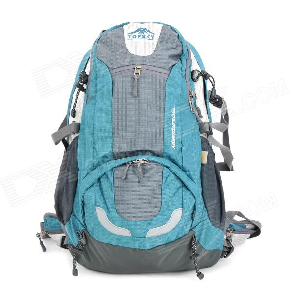 TOPSKY Outdoor Sports Camping Hiking Backpack Bag - Blue + Grey (35L)
