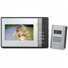 "SY802MB11 Wired 7"" TFT LCD Color Video Door Phone w/ Touch Pad - Grey"