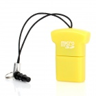 Mini T-Shirt-Stil USB 2.0 Micro SD / TF Card Reader w / 3.5mm Staubdicht Plug - Yellow