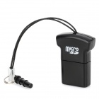 Mini T-Shirt-Stil USB 2.0 Micro SD / TF Card Reader w / 3.5mm Staubdicht Plug - Schwarz