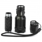 New-G11 230lm 3-Mode White Light Zooming Flashlight - Black (1 x 18650)
