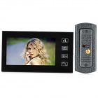 "SY806ME11 Wired 7"" TFT LCD Color Video Door Phone w/ Touch Pad - Black"