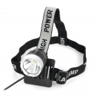 UltraFire Cree XM-L T6 900lm 3-Mode Cold White Light Headlamp - Black (4 x 18650)