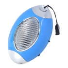K-12 American Football Style Media Player Speaker w/ TF / LED - Blue + Silver