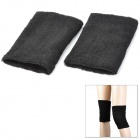Thicken Protective Sports Toweling Fabric Thigh Support - Black (2 PCS)