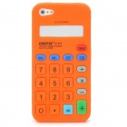 Protective Calculator Style Silicone Back Cover Case for Iphone 5 - Orange