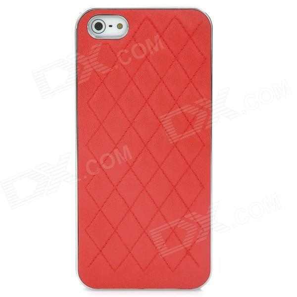 все цены на Protective Gridding PU Back Case Cover for Iphone 5 - Red онлайн