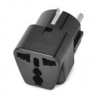 Universal Travel AC Plug Power Adapter - Black (2-Round-Pin Plug)