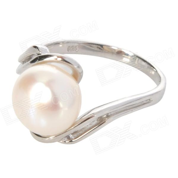925 Silver Natural Pearl Finger Ring - Silver