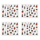Stylish Nail Art Paper Stickers - Multicolored (4 PCS)