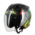 Cool Tanked 356 Outdoor Sports Racing Helmet - Black + Blue + Green (Size L)