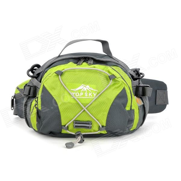 Topsky Multi-Functional Hiking Climbing Waist Bag - Grey + Green (8 L)
