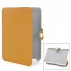 Protective PU Leather Cover Case with Holder for iPad Mini - Deep Yellow
