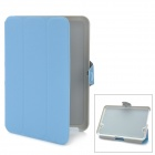 Stylish Protective PU Leather Case w/ Magic Buckle for Kindle Fire HD - Blue