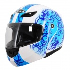 IBK 920 Open Face Motorcycle Outdoor Sports Racing Helmet - Blue + White (Größe L)