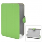 Stylish Protective PU Leather Case w/ Magic Buckle for Mini iPad - Green