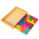 Different Shapes Twelve Wooden Jigsaw Pentomino Puzzle Toy Set - Multi-Colored