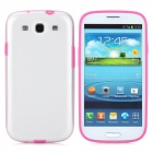 Protective Plastic Case for Samsung i9300 Galaxy S3 - Red + Transparent