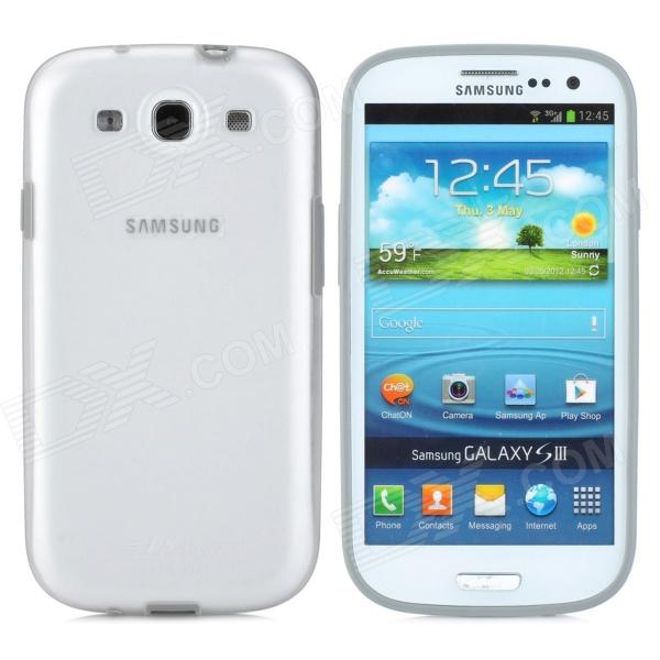 Protective Plastic Case for Samsung i9300 Galaxy S3 - Grey + Transparent