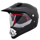 Cool Tanked 340 Motorcycle Outdoor Sports Racing Helmet - Black (Size L)