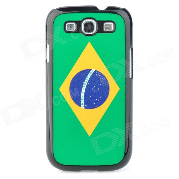 Retro Brazil National Flag Pattern Protective Plastic Case for Samsung i9300 Galaxy S3 - Green kinston colorful flowers and butterflies pattern plastic protective case for samsung galaxy s3 i9300
