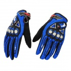 PRO-BIKER MCS-23 Full-Fingers Motorcycle Racing Gloves - Blue + Black (Pair / Size L)