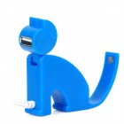 Mini sitzende Katze Form High Speed ​​USB 2.0 4-Port Hub - Blue