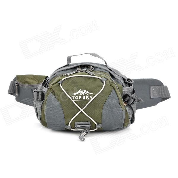 Topsky Multi-Functional Hiking Climbing Waist Bag - Grey + Army Green (8 L)