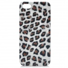 Leopard Pattern Protective Plastic Case for Iphone 5 - White + Brown + Black