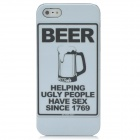 Beer Pattern Protective PC Back Case for Iphone 5 - Black + White