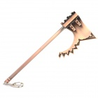 CF Tooth Axe Stil Aluminum Alloy Keychain - Copper Brown