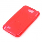 X Pattern Protective TPU Case for Samsung Galaxy Note 2 N7100 - Red
