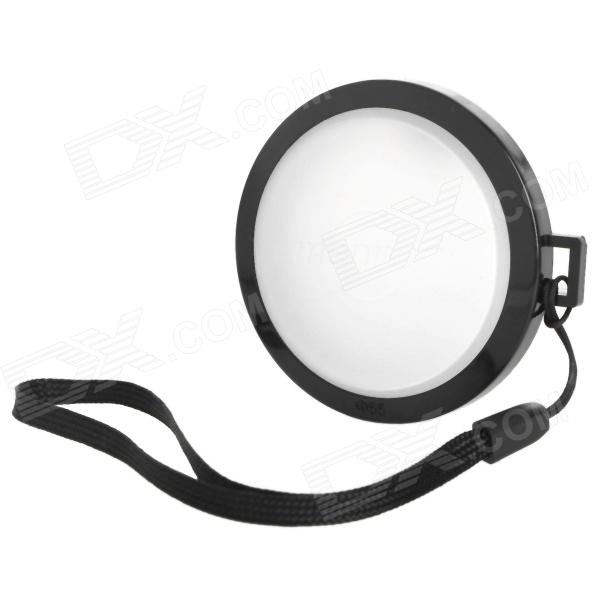 MENNON 55mm Camera White Balance Lens Cap Cover w/ Hand Strap - Black + White