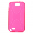X Pattern Protective TPU Case for Samsung Galaxy Note 2 N7100 - Deep Pink