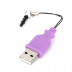 USB 2.0 Micro SD / TF Card Reader w / 3.5mm Staubdicht Plug - Lila